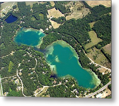 S-045 Stratton Lake Waupaca County Wisconsin Metal Print by Bill Lang