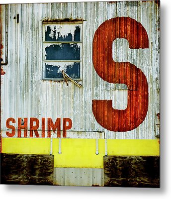 S Is For Shrimp  Metal Print by Carol Leigh