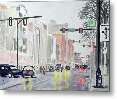 S. Main Street In Ann Arbor Michigan Metal Print by Yoshiko Mishina