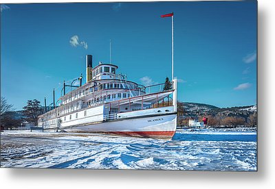 Metal Print featuring the photograph S. S. Sicamous by John Poon