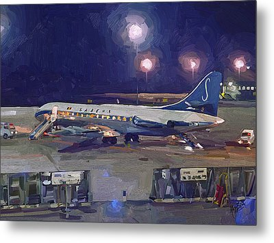 Sabena Caravelle At Stockholm 1965 Metal Print