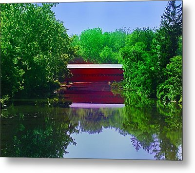 Sachs Covered Bridge - Gettysburg Pa Metal Print by Bill Cannon