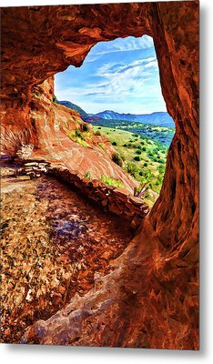 Sacred Ground - Shaman's Cave 2 Metal Print