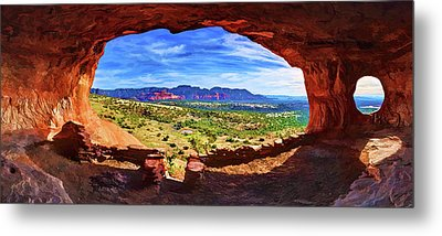Sacred Ground - Shaman's Cave Metal Print