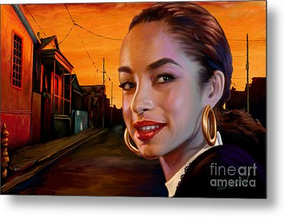 Metal Print featuring the painting Sade by Sam Shacked