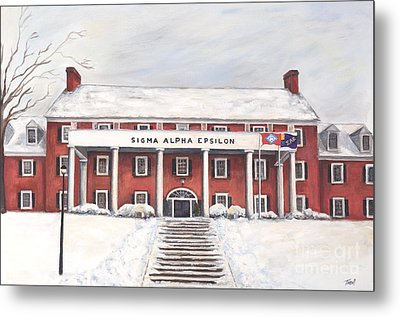 Sae Fraternity House At Uofa Metal Print by Tansill Stough