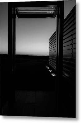 Metal Print featuring the photograph Sag Harbor Sunset 2 In Black And White by Rob Hans