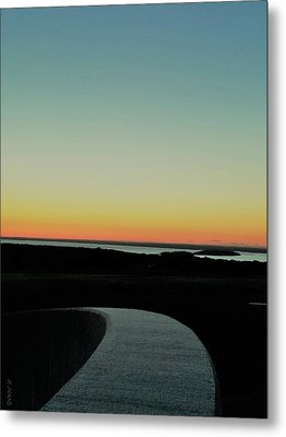 Metal Print featuring the photograph Sag Harbor Sunset 3 In Black And White by Rob Hans