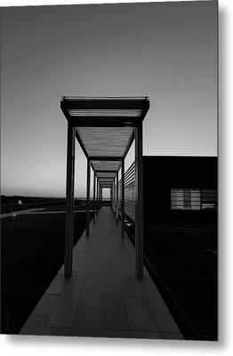 Metal Print featuring the photograph Sag Harbor Sunset In Black And White by Rob Hans
