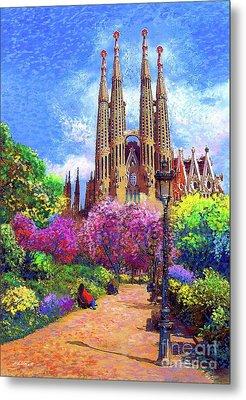 Sagrada Familia And Park,barcelona Metal Print by Jane Small