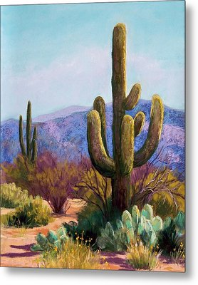 Saguaro Metal Print by Candy Mayer