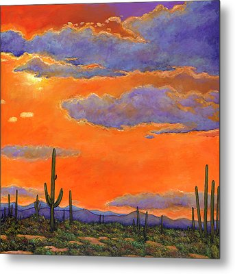 Saguaro Sunset Metal Print by Johnathan Harris