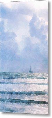 Sail At Sea Metal Print by Francesa Miller