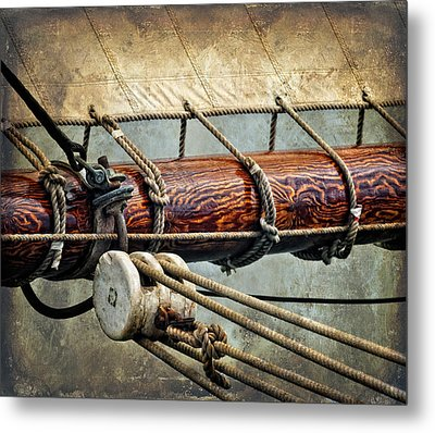 Sail Boom Metal Print by Fred LeBlanc