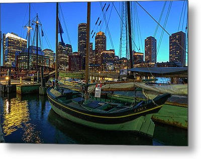 Metal Print featuring the photograph Sail Boston Tall Ship Essex by Juergen Roth