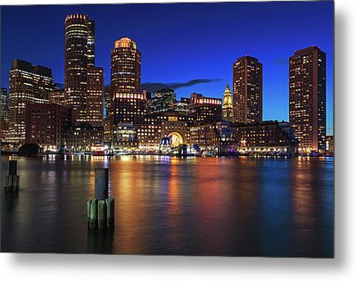 Metal Print featuring the photograph Sail Boston Tall Ships Europa And Atyla by Juergen Roth
