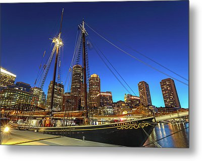 Metal Print featuring the photograph Sail Boston Tall Ships by Juergen Roth