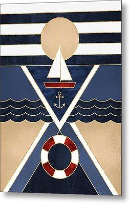 Sailboat Metal Print by Elisabeth Fredriksson