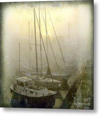 Sailboats In Honfleur. Normandy. France Metal Print