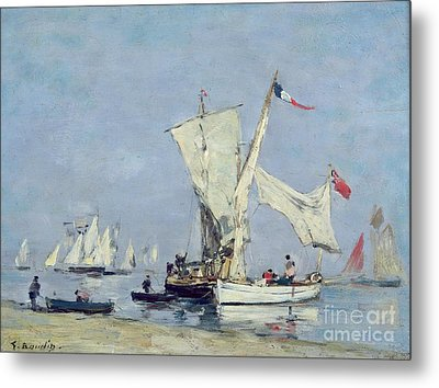 Sailing Boats Metal Print by Eugene Louis Boudin