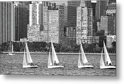 Sailing In New York Harbor No. 3-1 Metal Print