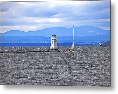 Sailing In To Open Waters Metal Print by James Steele