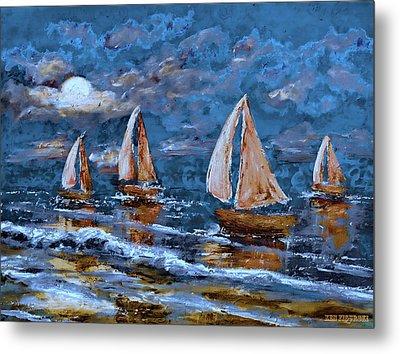 Sailing Into The Blue Moon 2 Metal Print