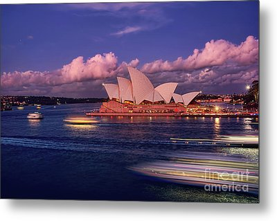 Sails In The Clouds By Kaye Menner Metal Print by Kaye Menner