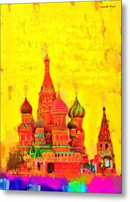 Saint Basil Cathedral - Da Metal Print
