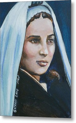 Saint Bernadette Soubirous Metal Print by Bryan Bustard
