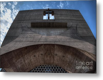Saint John's University Abbey Spring Morning Blue Sky Metal Print