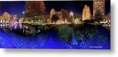 Saint Louis City Garden Panorama Metal Print by David Coblitz