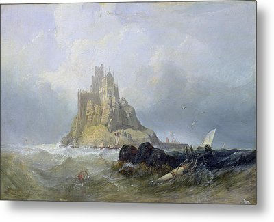 Saint Michael's Mount In Cornwall  Metal Print by William Clarkson Stanfield