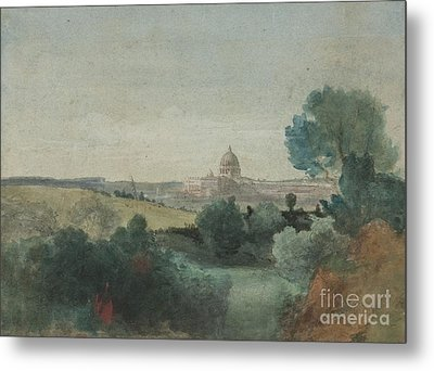 Saint Peter's Seen From The Campagna Metal Print by George Snr Inness
