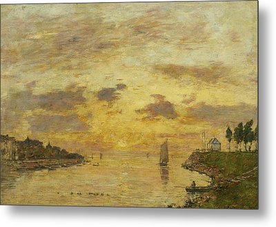 Saint-valery-sur-somme. The Mouth Of The Somme Metal Print by Eugene Boudin
