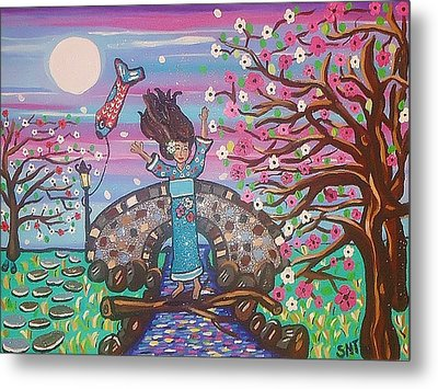 Sakura Dreams Metal Print by Stephanie Temple