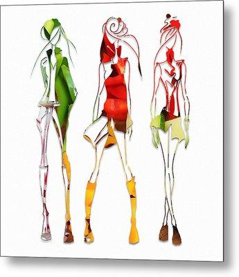 Salad Dressing Fashion Metal Print