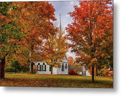 Metal Print featuring the photograph Salem Church In Autumn by Jeff Folger