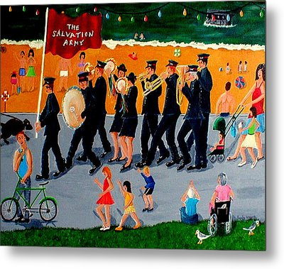 Sally Army Metal Print by Sandy Wager