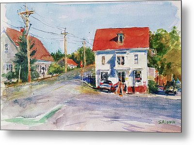 Salty Market, North Truro Metal Print by Peter Salwen