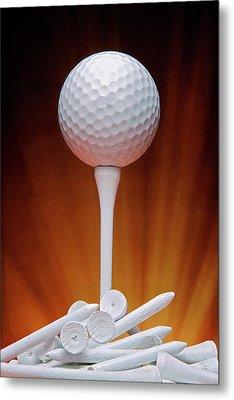 Salute To Golf Metal Print
