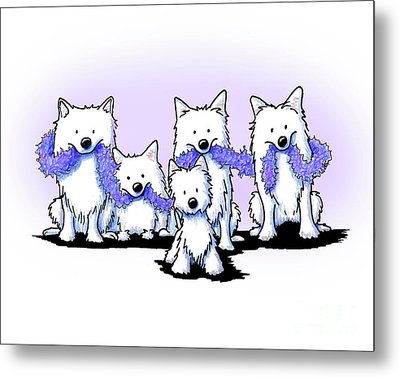 Sams And Westie Metal Print
