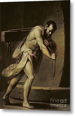 Samson In The Treadmill Metal Print by Giacomo Zampa