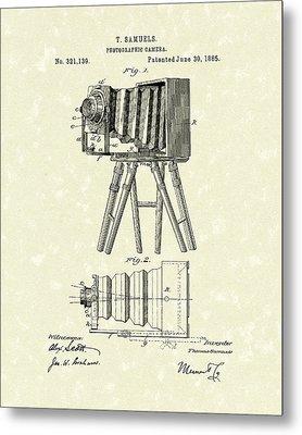 Samuels Photographic Camera 1885 Patent Art Metal Print