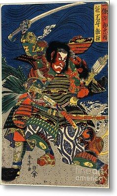 Samurai Warriors Battle 1819 Metal Print by Padre Art