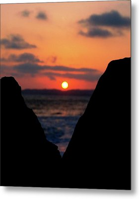 San Clemente Beach Rock View Sunset Portrait Metal Print