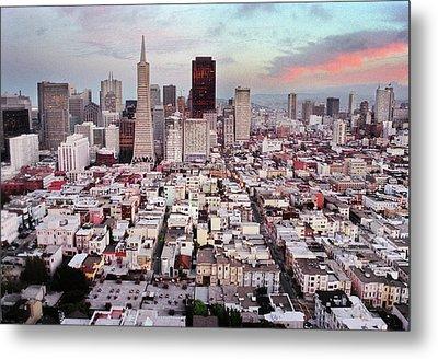 San Francisco Aerial Skyline Metal Print