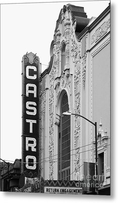 San Francisco Castro Theater . Black And White Photograph . 7d7579 Metal Print by Wingsdomain Art and Photography