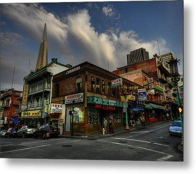 San Francisco - Chinatown 002 Metal Print by Lance Vaughn