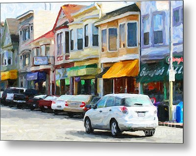 San Francisco Clement Street 2 Metal Print by Wingsdomain Art and Photography